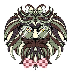 Lion Hipster5 vector image vector image