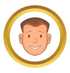 Male face icon vector