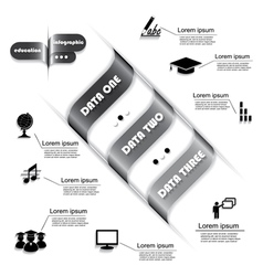 Modern design for education process infographic vector
