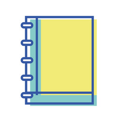 notebook tool to writing the learned in the class vector image