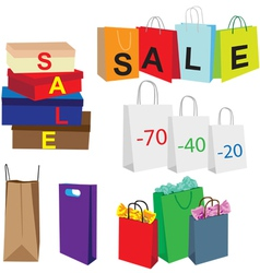 packets symbolize purchase vector image