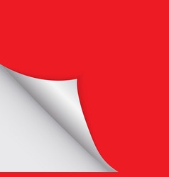 pattern of bent corner for free filling of red vector image