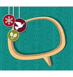 Retro wooden Christmas set vector image vector image
