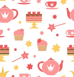 Royal tea party vector image vector image