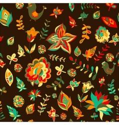 Seamless set multicolored retro flower pattern vector image vector image