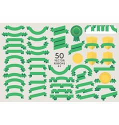 Set of 50 ribbons vector