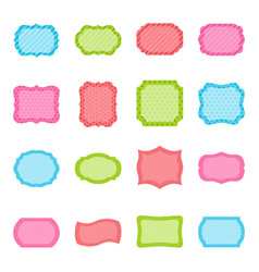 set of colorful frames vector image vector image