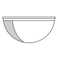 single bowl icon vector image