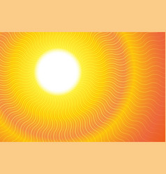sunburst hot heat ray background vector image vector image