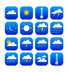 symbol of weather and climate vector image vector image