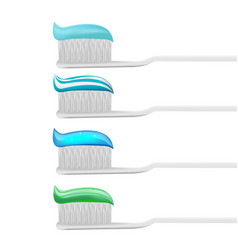 toothpaste toothbrush mockup product isolate vector image vector image