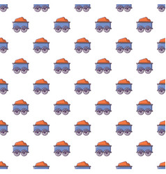Train wagon pattern seamless vector