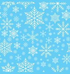 Winter snowflakes seamless background pattern vector