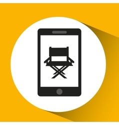 Woman character chair director film vector