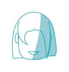 woman faceless cartoon vector image vector image
