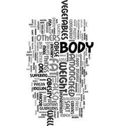 You obesity and weight loss text word cloud vector