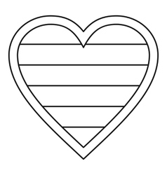 Heart lgbt icon outline style vector