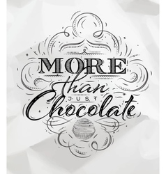 Poster chocolate vector