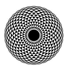 Geometric eye mandala vector