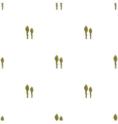 Asparagus hand drawn on white background hand vector