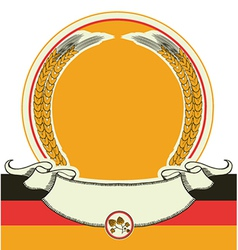 Beer label with german flag oktoberfest symbol vector