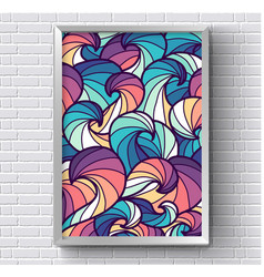 Art abstract painting picture with rainbow vector