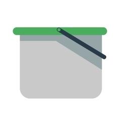 Empty bucket icon vector