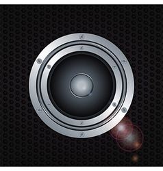 Speaker double ring over metal background vector image