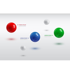 Balls infographic 3 vector