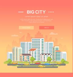 Big city - modern colorful vector