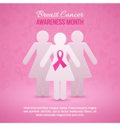 Breast cancer awareness background vector