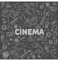 Cinema line art design vector
