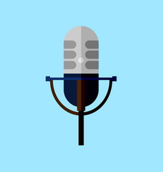 Classic microphone style graphic vector