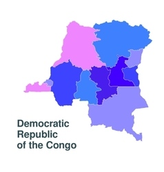 Democratic Republic of the Congo vector image vector image