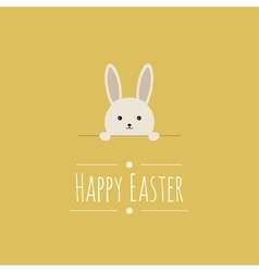 Easter background with cute bunny vector image vector image