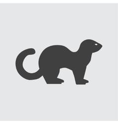 Ferret icon vector image vector image