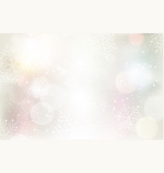 festive silvery background with light effects and vector image vector image