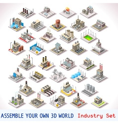 Game set 05 building isometric vector