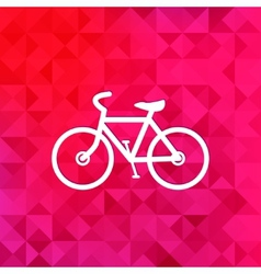 Hipster retro bicycle icontriangle background vector