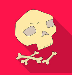 Human ancient bones icon in flate style isolated vector