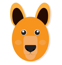 Isolated kangaroo face vector