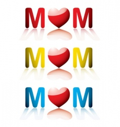 Mother's Day icons vector image