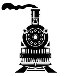 Old train vector