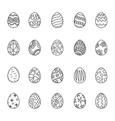 outline icon easter vector image vector image