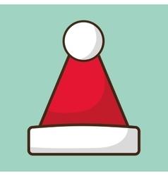 Santas hat merry christmas design vector