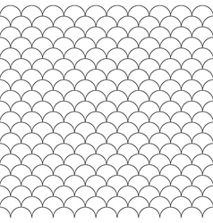 Simple seamless pattern fish scales vector