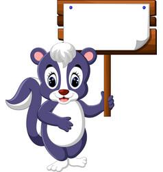 Skunk cartoon vector