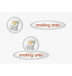 smoking area buttons vector image