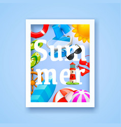 summer cover design elements vector image