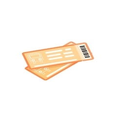 Train tickets isometric 3d icon vector